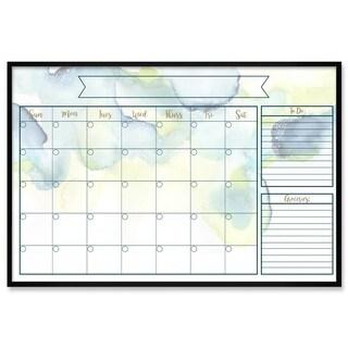 "Oliver Gal ""Watercolor Calendar"" Framed Whiteboard"