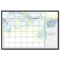 "Oliver Gal ""Watercolor Calendar"" Framed Whiteboard - 24 x 16"