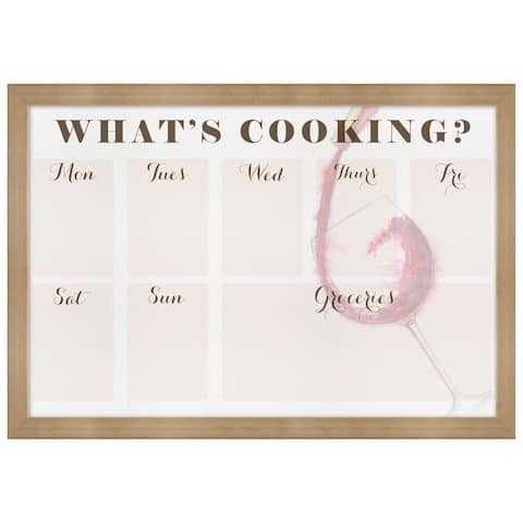 "Oliver Gal ""What""s Cooking"" Framed Whiteboard - 24 x 16"