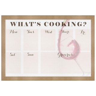 "Oliver Gal ""What""s Cooking"" Framed Whiteboard"