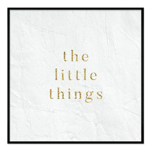 "Oliver Gal ""The Little Things"" Framed Whiteboard - 16 X 16"