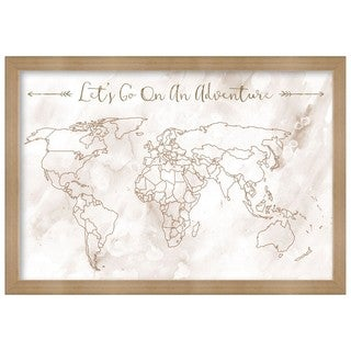 "Oliver Gal ""Lets Go On An Adventure"" Framed Whiteboard"