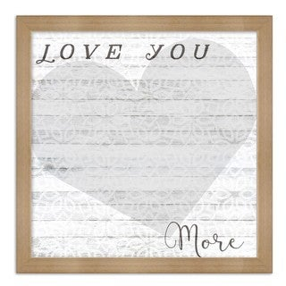 "Oliver Gal ""Love You More Whiteboard"" Framed Whiteboard"