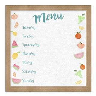 "Oliver Gal ""Menu Fruits"" Framed Whiteboard"