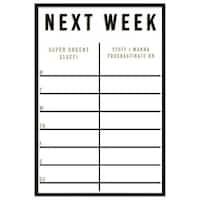 """Oliver Gal """"Next Week"""" Framed Whiteboard"""