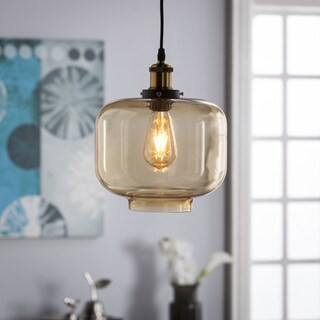 Harper Blvd Marimore Colored Glass Pendant Lamp - Amber