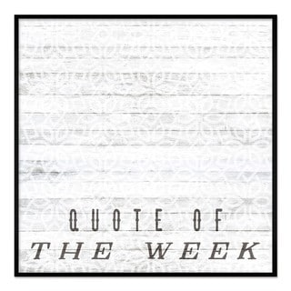 """Oliver Gal """"Quote Of The Week"""" Framed Whiteboard"""