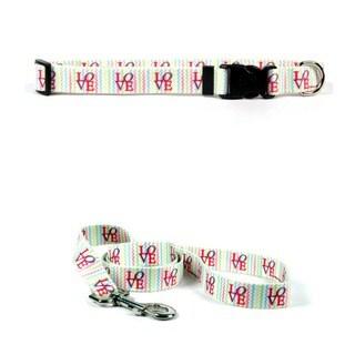 Yellow Dog Design Love by Ellen Crimi Trent Standard Collar & Lead Set