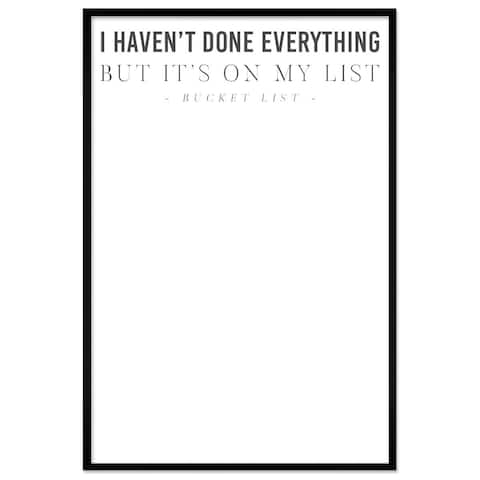"Oliver Gal ""The Bucket List"" Framed Whiteboard"