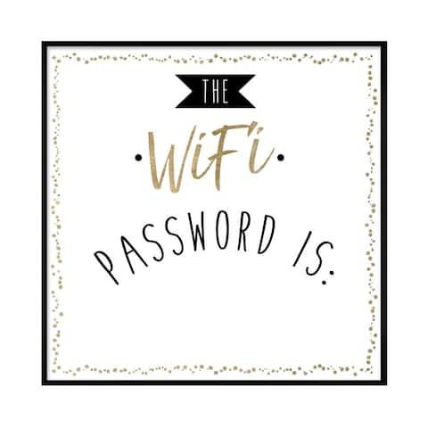 "Oliver Gal ""WIfi Password"" Framed Whiteboard"