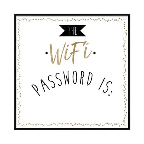 "Oliver Gal ""WIfi Password"" Framed Whiteboard"