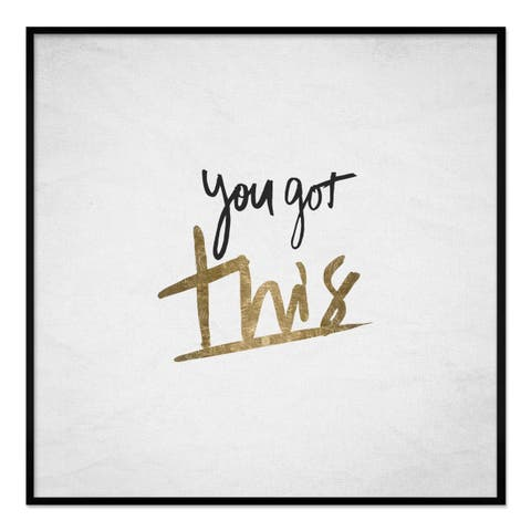 "Oliver Gal ""You Got This"" Framed Whiteboard"