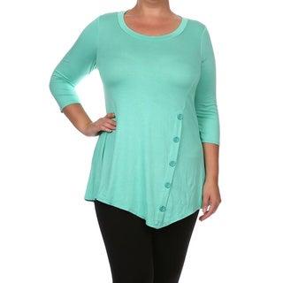 Women's Plus Size Button-Trim Tunic