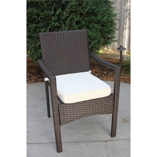 Wicker Dining Chair With Cushion (Baker)