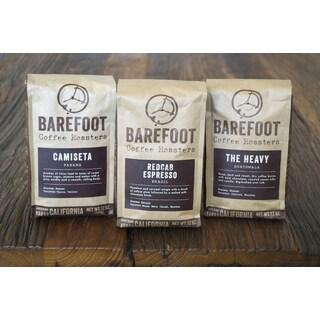 Barefoot Coffee 12oz Dark Roast Drip Whole Bean Sampler (Set of 3)