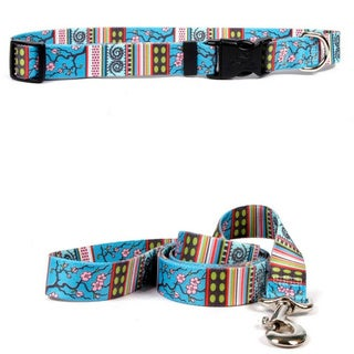 Yellow Dog Design Cherry Blossom Pet Standard Collar & Lead Set