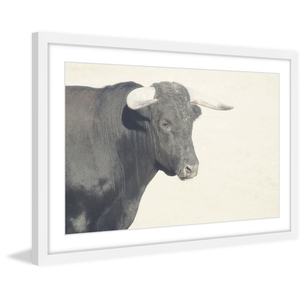 Marmont Hill - 'White Antlers' Framed Painting Print
