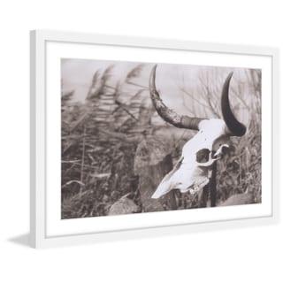 Marmont Hill - 'Deserted Skull' Framed Painting Print