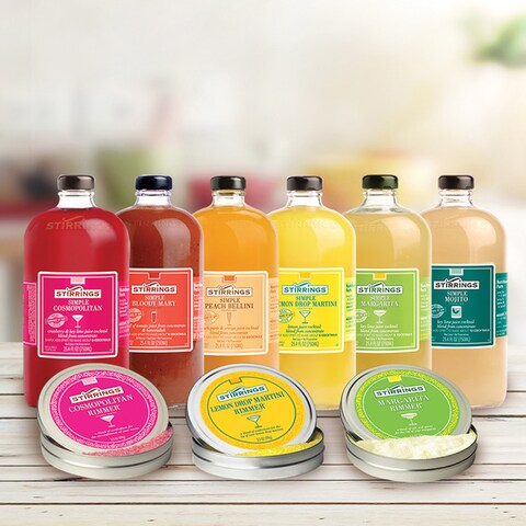 Stirrings All Natural 9-piece Cocktail Mixers and Rimmers Set
