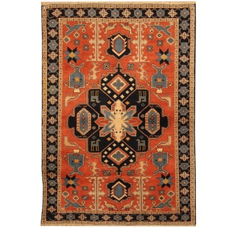 Herat Oriental Persian Hand-knotted Tribal Quchan Wool Rug (4' x 5'8)