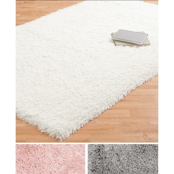 Shop Lark Shimmer Shag Rug 5 0 X 7 6 5 X 7 6 On Sale Free