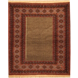 Herat Oriental Persian Hand-knotted Tribal Quchan Wool Rug (4'6 x 5'3)