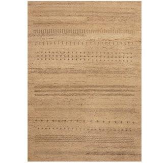 Handmade Herat Oriental Indo Gabbeh Wool Rug (India) - 4'5 x 6'