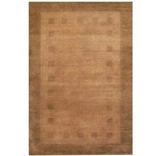 Herat Oriental Indo Hand-knotted Gabbeh Wool Rug (4' x 6')