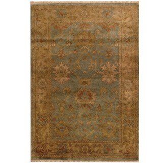 Herat Oriental Indo Hand-knotted Oushak Wool Rug (4' x 5'10)