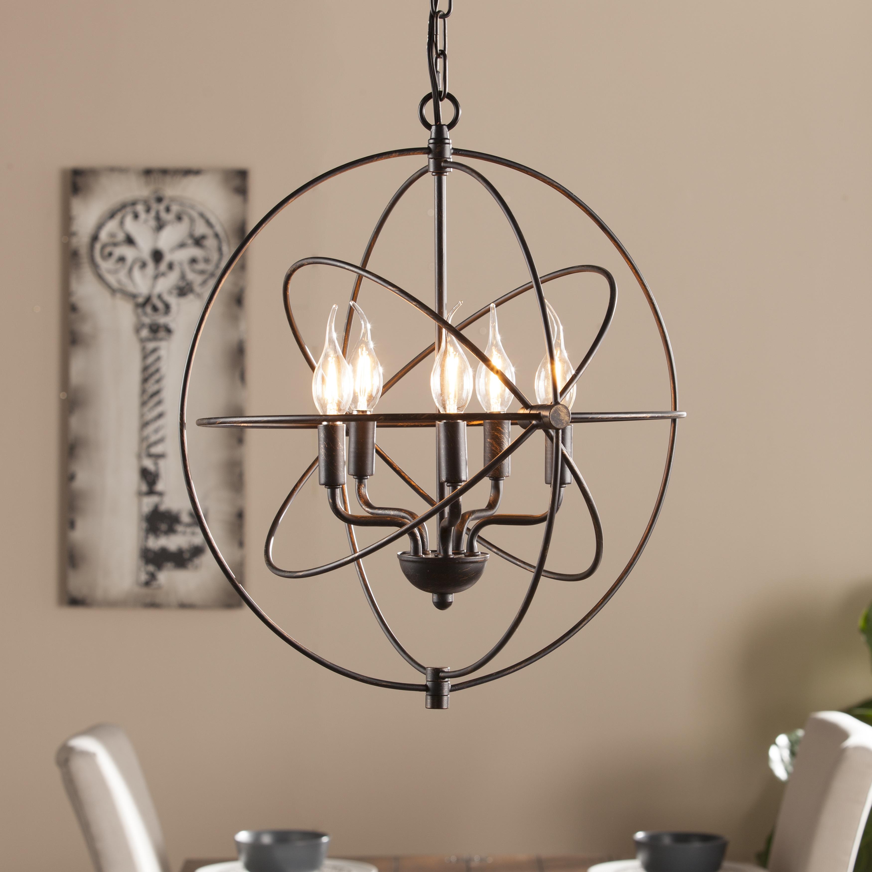 Harper Blvd Novus 5-Light Orb Pendant Lamp (OS9081TL), Br...