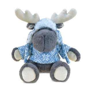 Puzzled Grey Super Soft Plush Moose