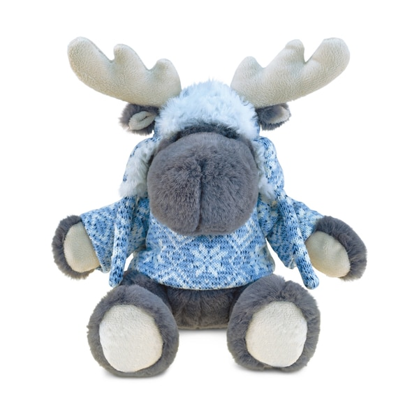 Puzzled Grey Super Soft Plush Moose