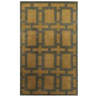Herat Oriental Indo Hand-knotted Tibetan Wool Rug (3'5 x 5'8)