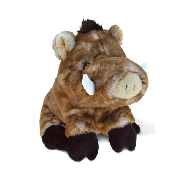 Puzzled Wild Boar Super-Soft Stuffed Plush Cuddly 7-inch Animal Toy