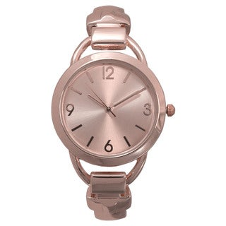 Olivia Pratt Solid Metal Simple Cuff Watch