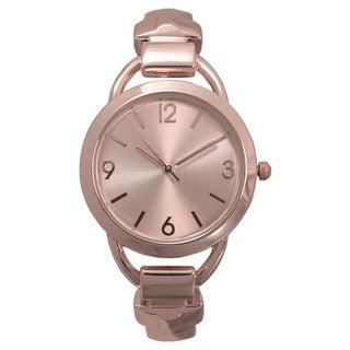 Olivia Pratt Solid Metal Simple Cuff Watch