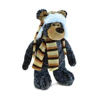 Puzzled Black Standing Bear Super-soft Clothed Plush Toy