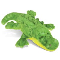Puzzled Bright Green Super Soft Plush Large Wild Alligator Toy