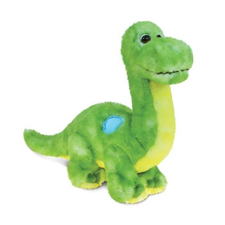 Puzzled Green Dinosaur 10-inch Plush Animal