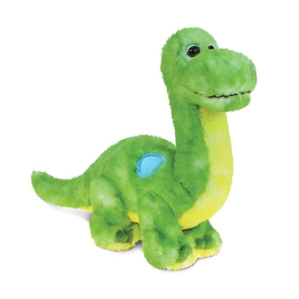 Puzzled Green Dinosaur 10-inch Plush Animal