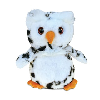 Puzzled White 8.5-inch Owl Super-soft Stuffed Plush Cuddly Animal Toy