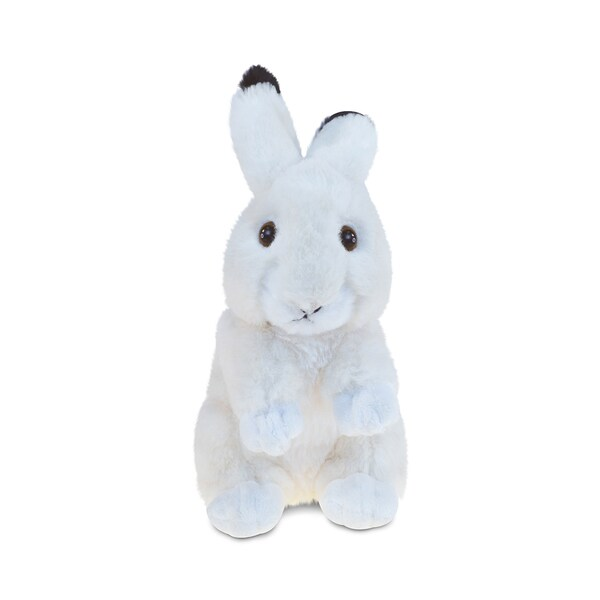 Puzzled Beige Super-Soft Stuffed Plush Cuddly Rabbit Animal Toy
