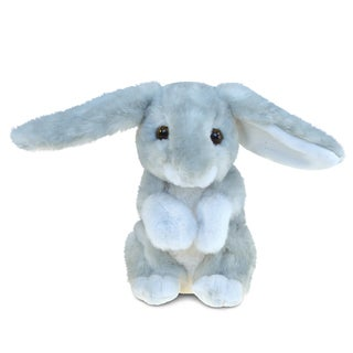 Puzzled Grey 4.5-inch Rabbit Super-soft Stuffed Plush Cuddly Animal Toy