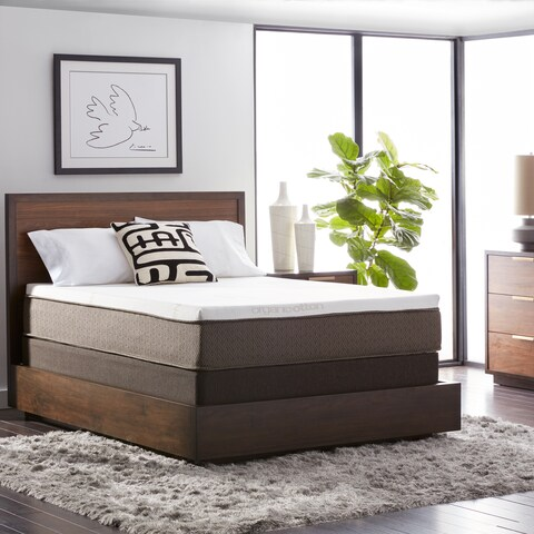 Natures Rest Summer Rain 12-inch Twin XL-size All Talalay Latex Mattress Set - White/Brown