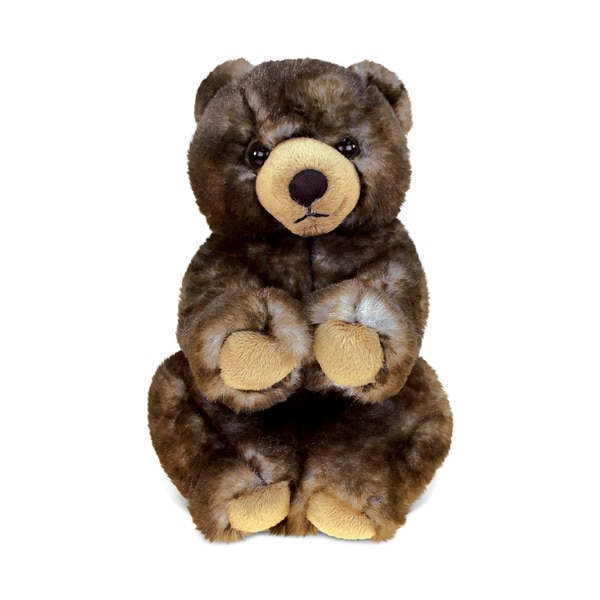 Puzzled Cute Sitting Grizzly Super-soft Plush Toy