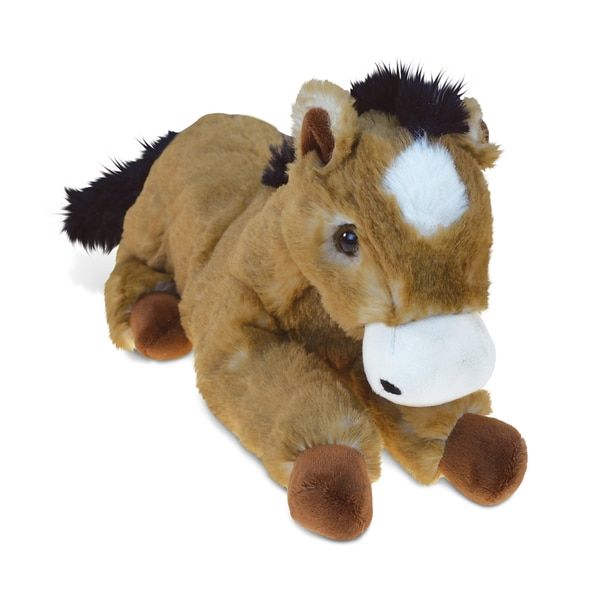 Puzzled Inc. Lying Brown Horse Super-soft Plush