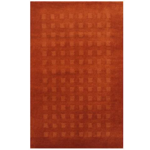 Handmade Herat Oriental Indo Tibetan Wool Rug (India) - 3'8 x 5'8
