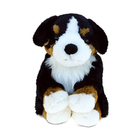 Puzzled Bernese Dog Super-Soft Stuffed Plush Cuddly Animal Toy