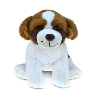 Puzzled Super Soft Plush St. Bernard Dog
