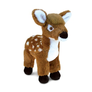 Puzzled Inc. Kids' Standing Deer 8-inch Large Super-soft Plush